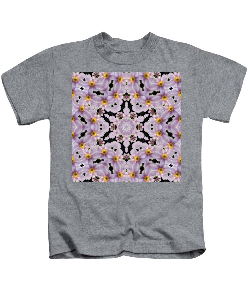 Kids T-Shirt featuring the photograph Mandala84 by Lee Santa