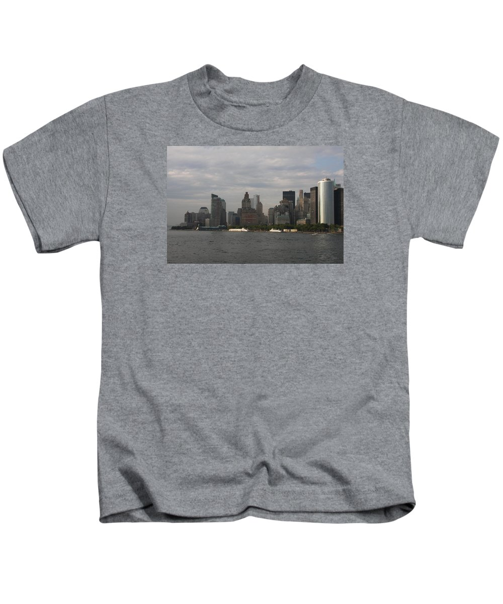 New York City Kids T-Shirt featuring the photograph Manhattan Skyline 2010 by Christiane Schulze Art And Photography
