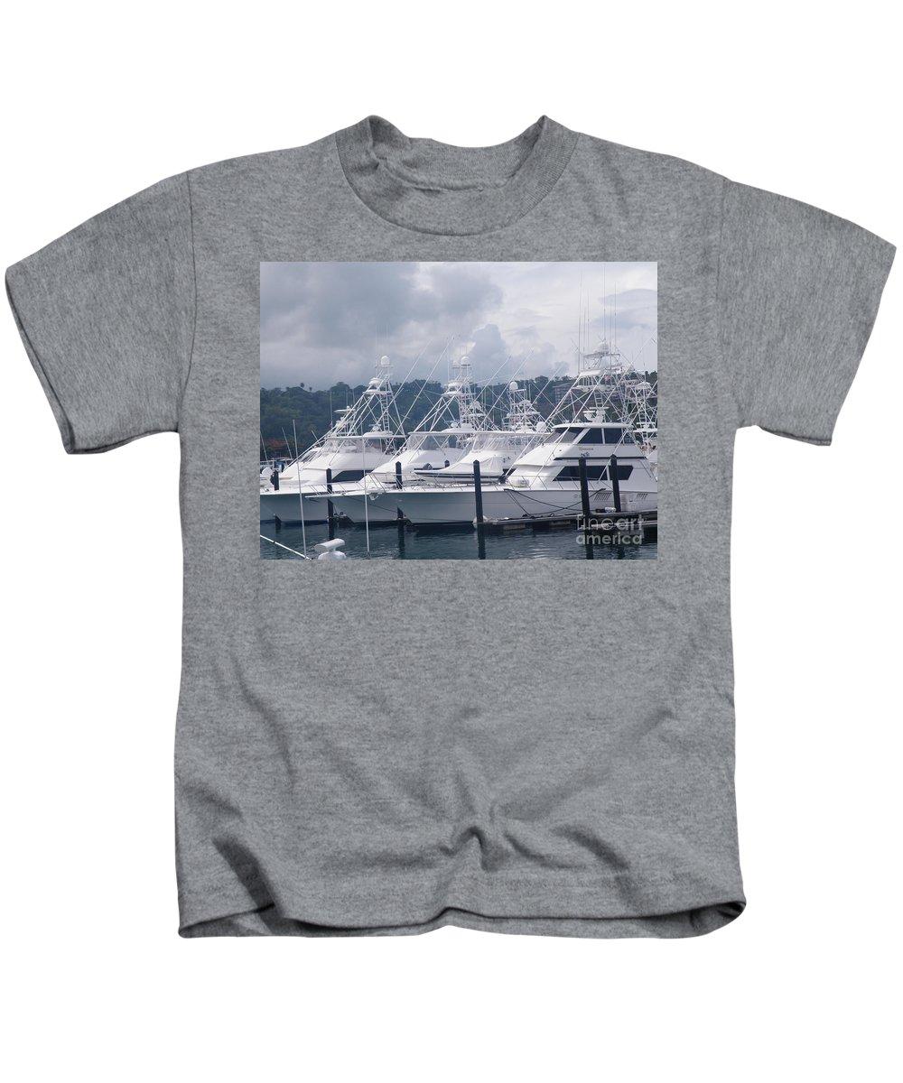 Marina Kids T-Shirt featuring the photograph Marina Costa Rica by DejaVu Designs