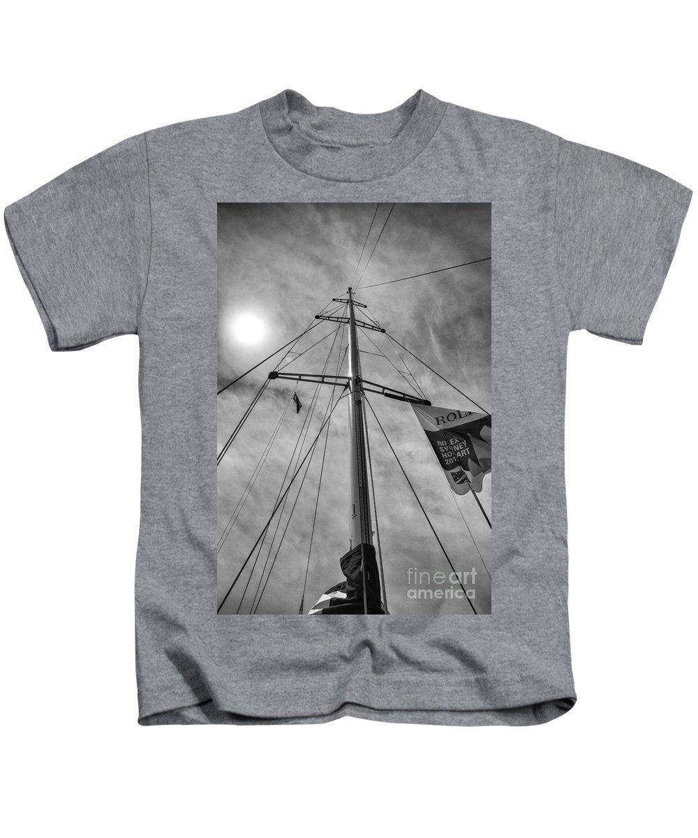 Psp Logistics Yacht Kids T-Shirt featuring the photograph Mast Of Yacht by Sheila Smart Fine Art Photography