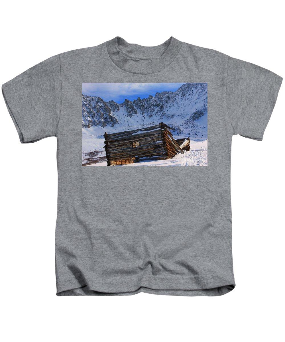 Nature Kids T-Shirt featuring the photograph Mayflower Gulch Ruins by Tonya Hance