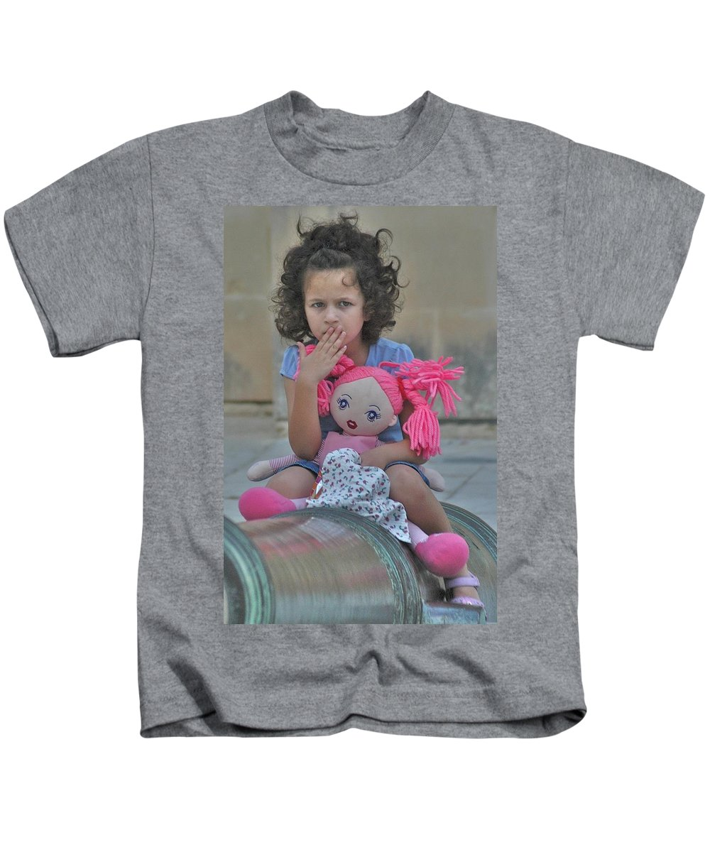 Cannon Kids T-Shirt featuring the photograph Mdina Girl by Joseph Yarbrough