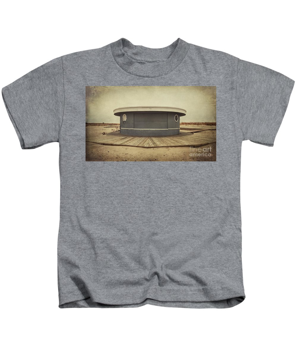 Jones Beach Kids T-Shirt featuring the photograph Memories In The Sand by Evelina Kremsdorf