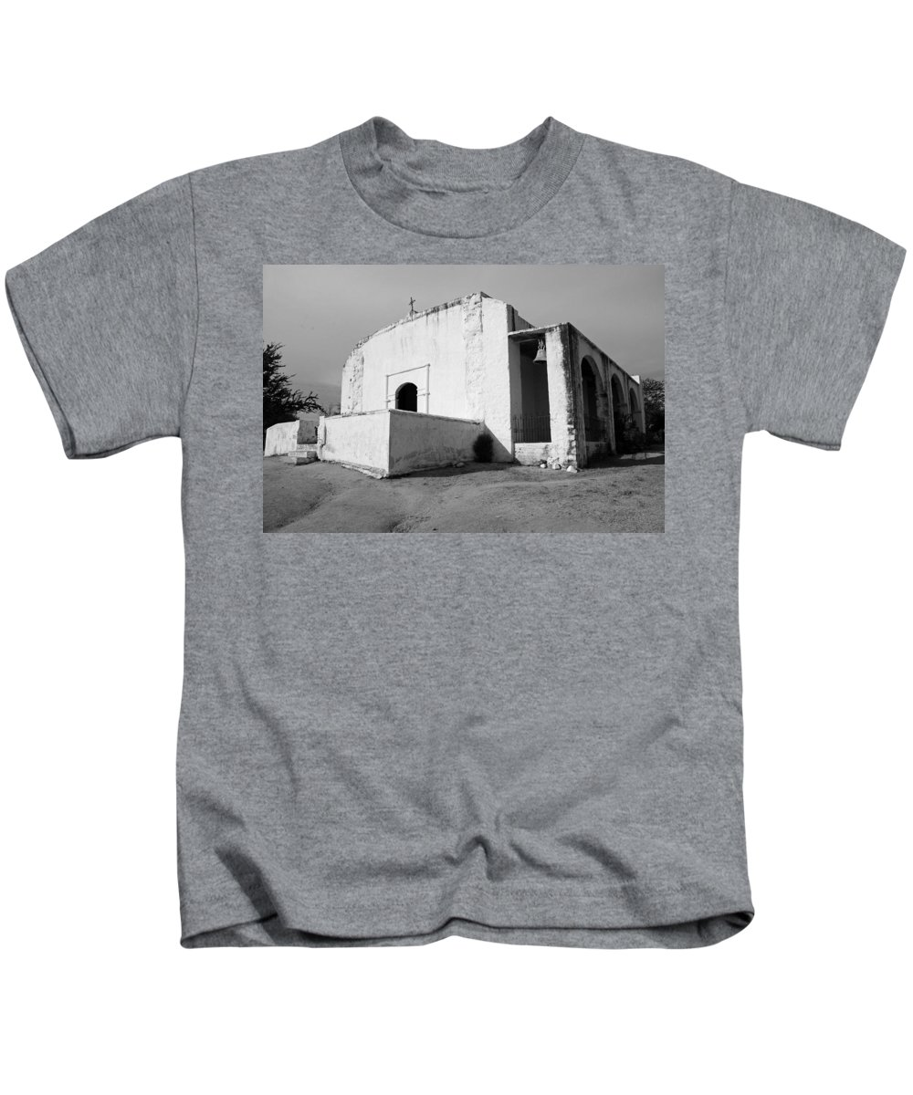 Black And White Kids T-Shirt featuring the photograph Minas Nueva 01 by Jeff Brunton
