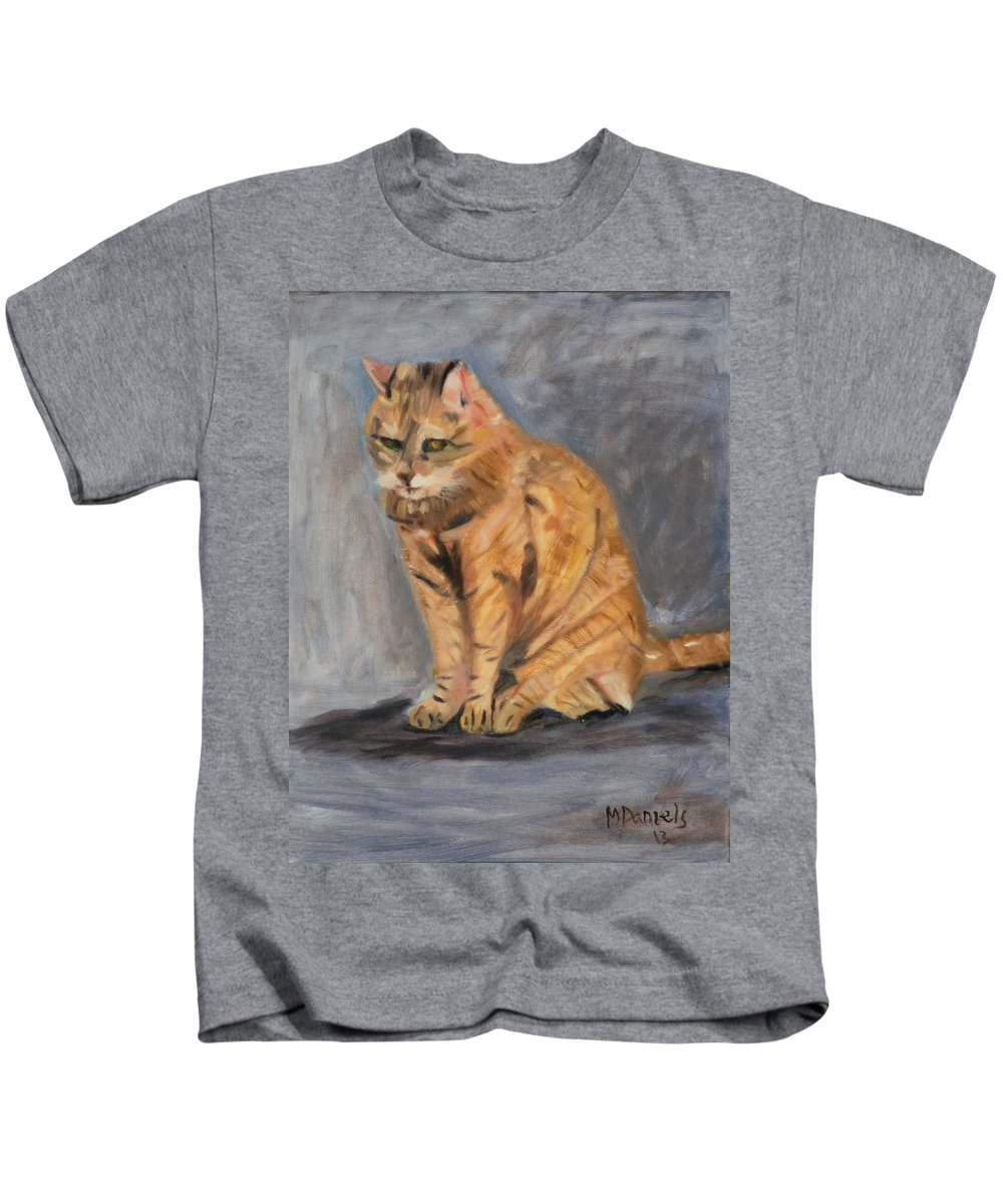 Animal Kids T-Shirt featuring the painting Misty by Michael Daniels