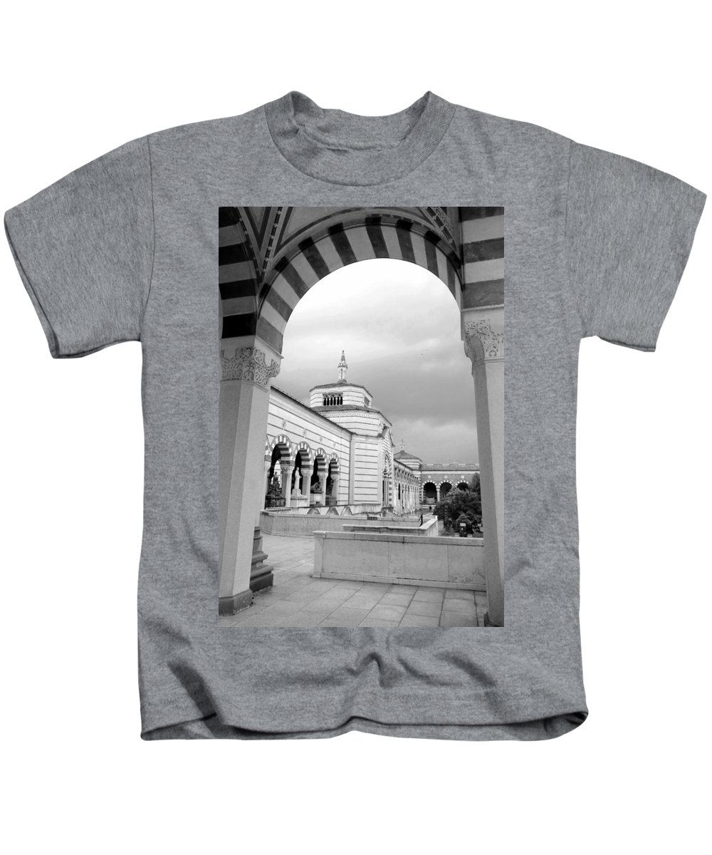 Outdoor Kids T-Shirt featuring the photograph Monumentale Cemetery by Valentino Visentini