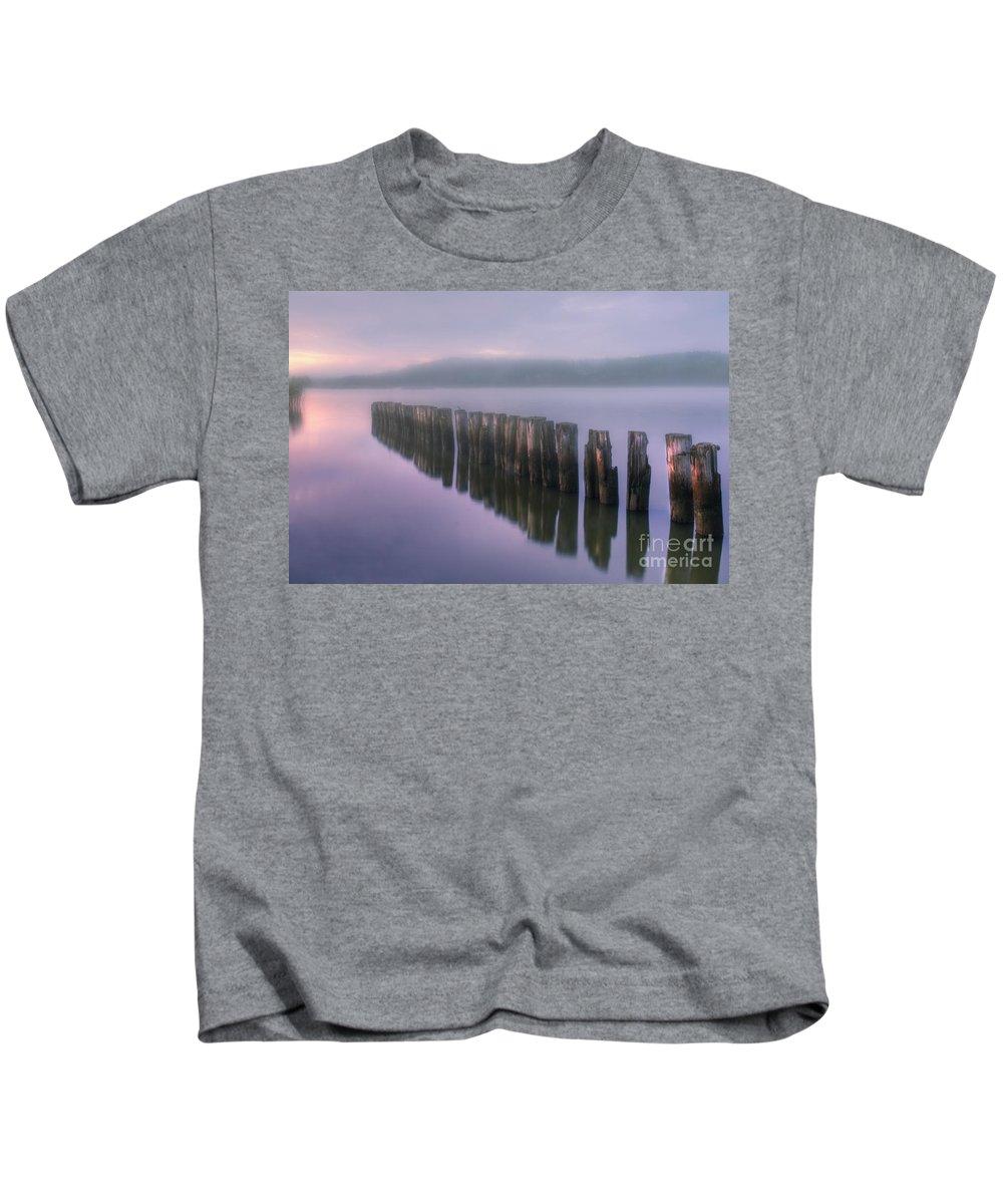 Art Kids T-Shirt featuring the photograph Morning Fog by Veikko Suikkanen