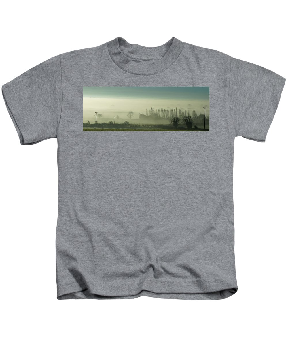 Mist Kids T-Shirt featuring the photograph Morning Mist by Ron Harpham