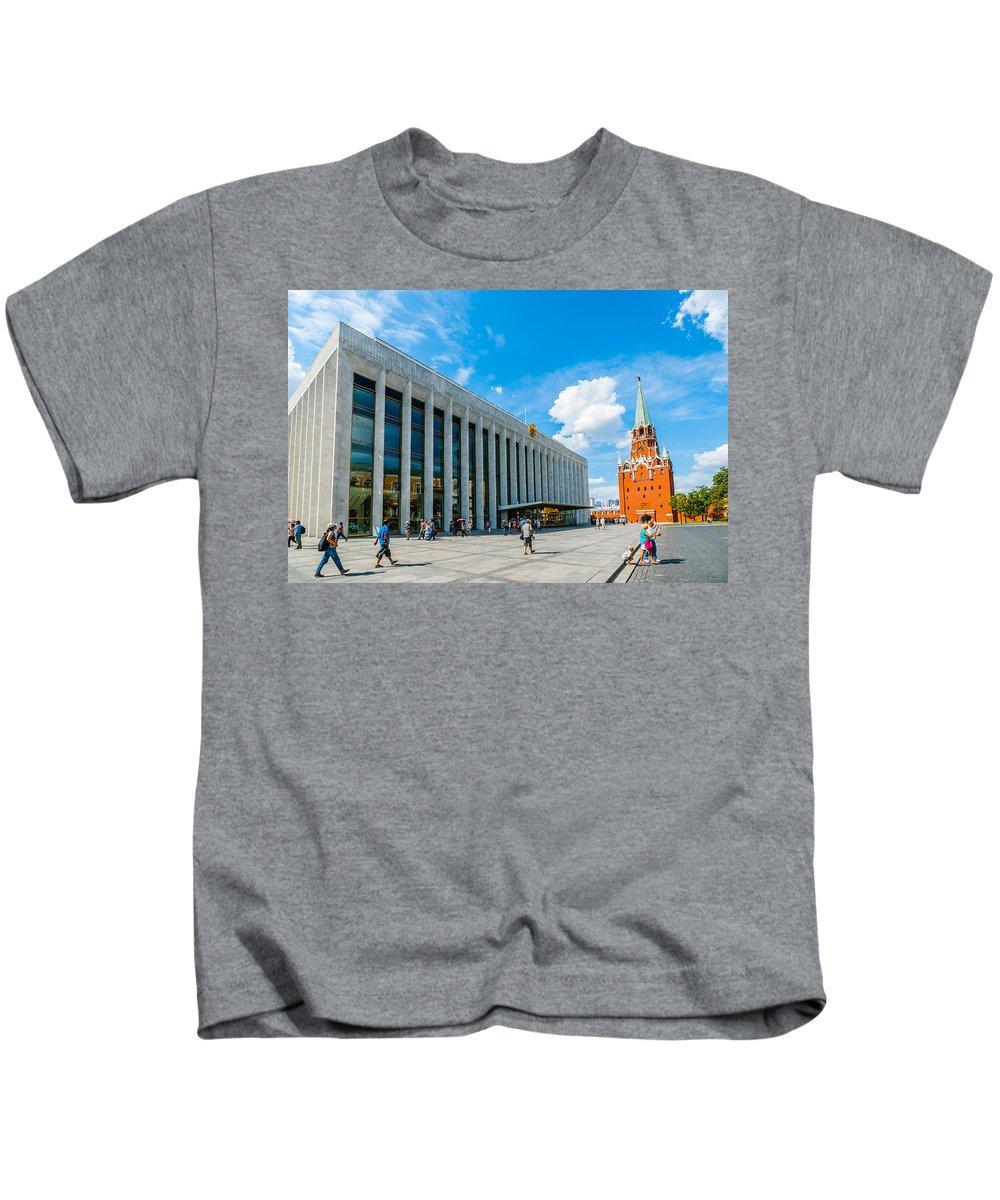 Troitskaya Kids T-Shirt featuring the photograph Moscow Kremlin Tour - 70 Of 70 by Alexander Senin