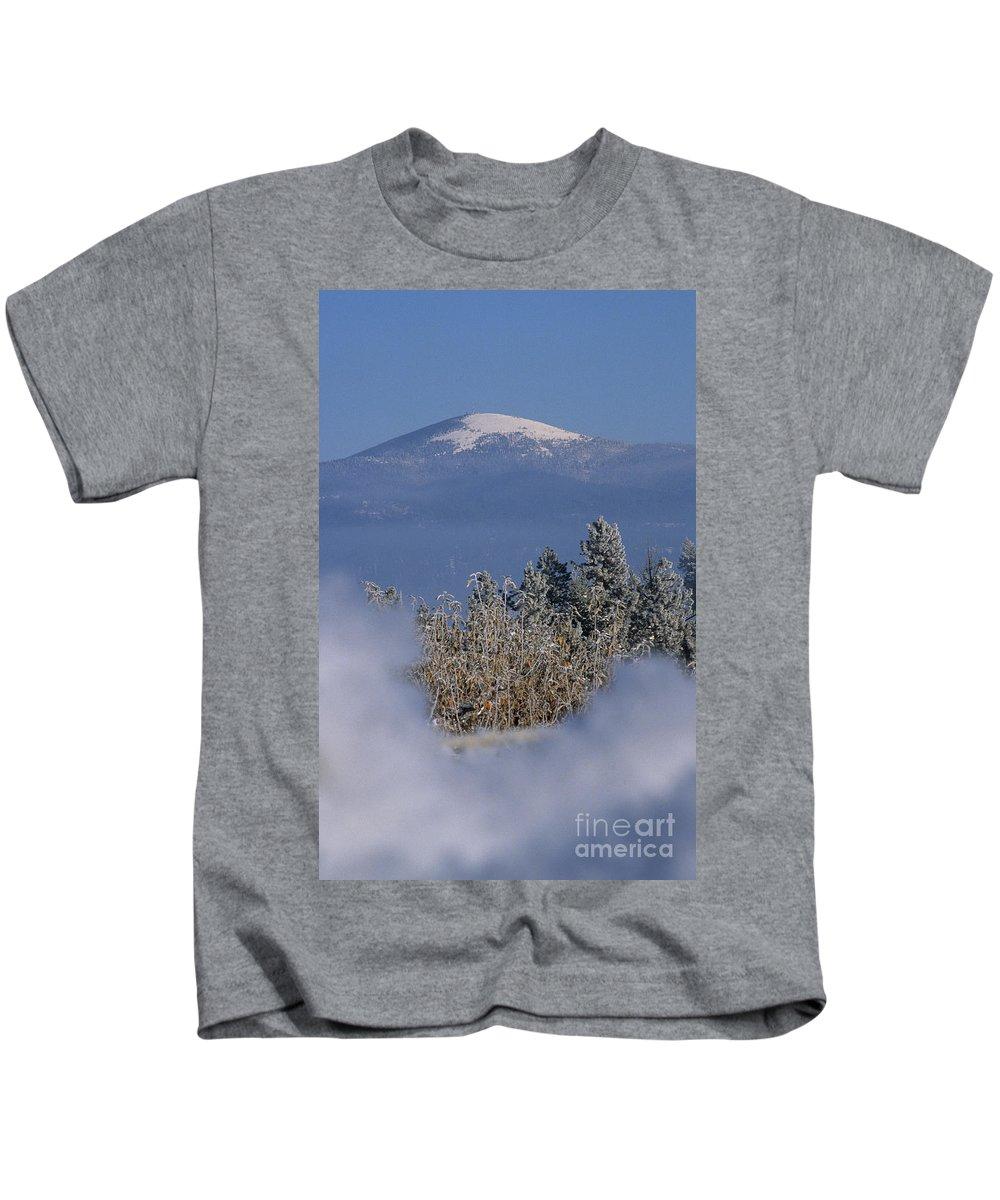 Spokane Kids T-Shirt featuring the photograph Mount Spokane by Sharon Elliott