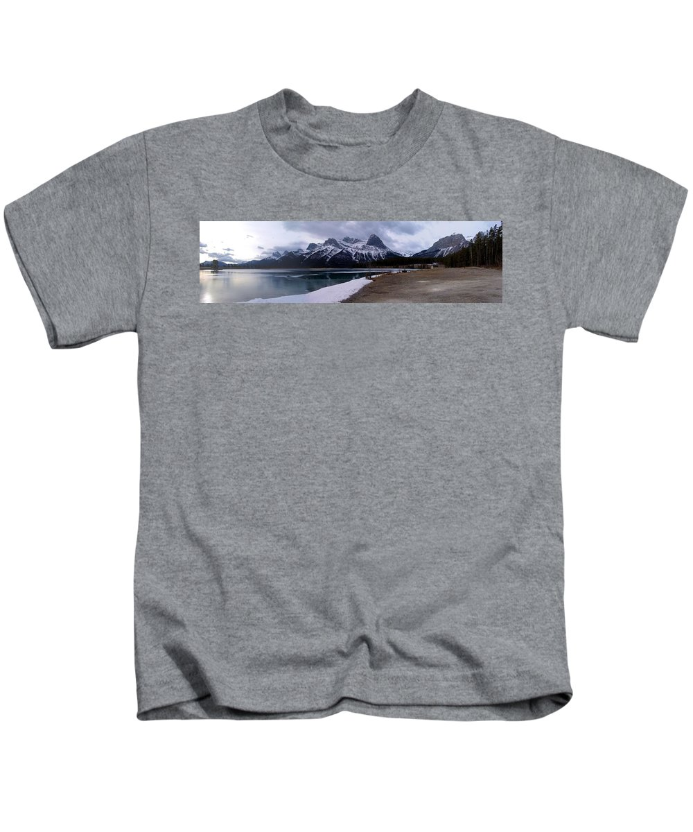 Landscape Kids T-Shirt featuring the photograph Mountain Reservoir by Ian Mcadie