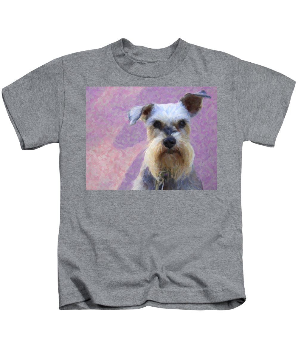 Dog Kids T-Shirt featuring the photograph Mr. Mutt by Alice Gipson