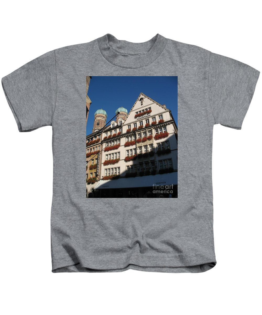 City Kids T-Shirt featuring the photograph Munich City by Christiane Schulze Art And Photography
