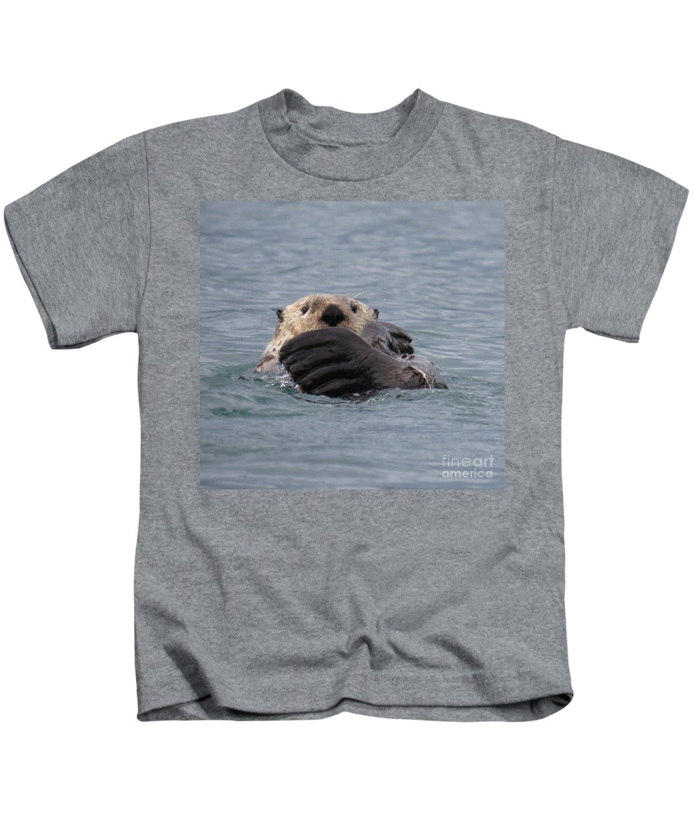 Otter Kids T-Shirt featuring the photograph My Otter by Stacey May