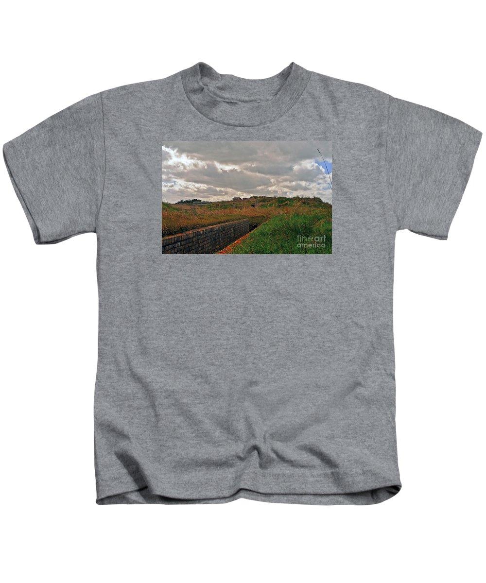 Travel Kids T-Shirt featuring the photograph Nazi Bunker by Elvis Vaughn