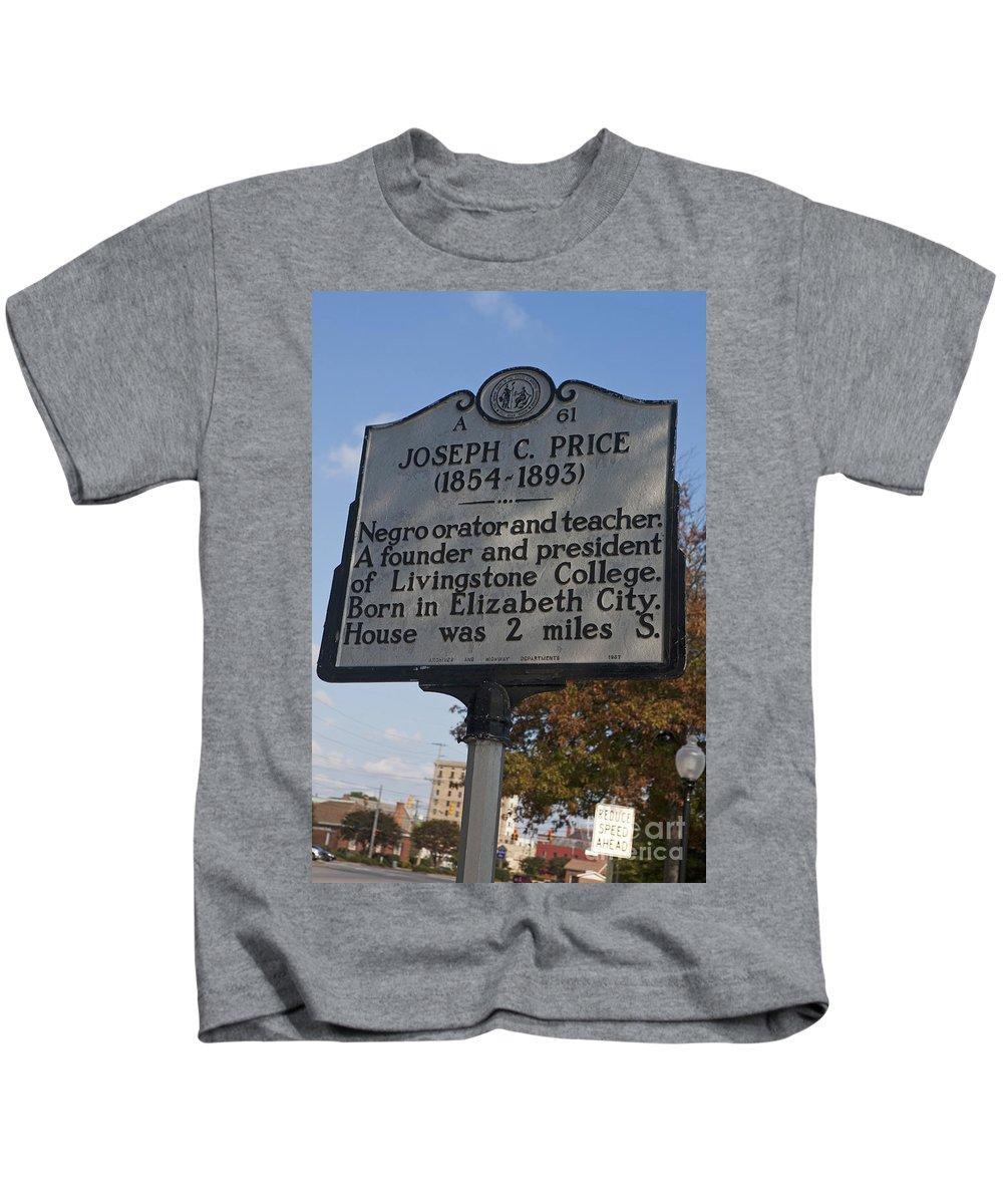 Joseph C. Price Kids T-Shirt featuring the photograph Nc-a61 Joseph C. Price 1854-1893 by Jason O Watson