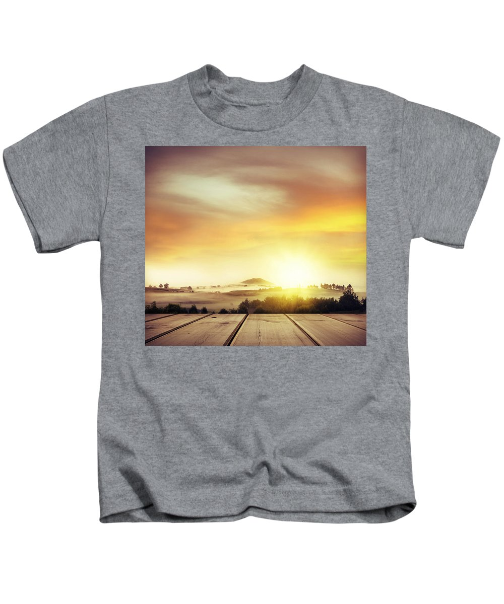 Nature Kids T-Shirt featuring the photograph New Beginning by Les Cunliffe