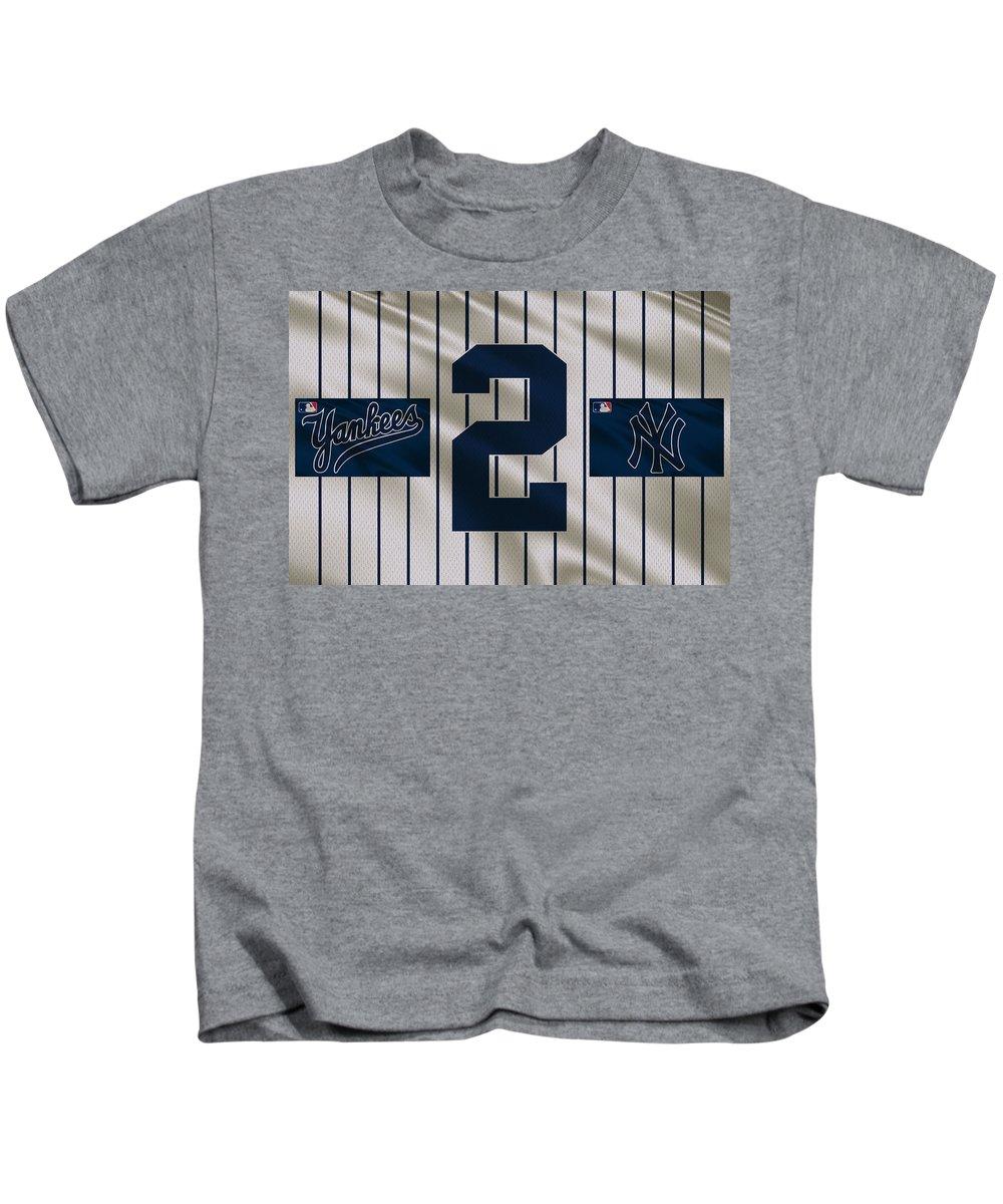 d6d6bffec Yankees Kids T-Shirt featuring the photograph New York Yankees Derek Jeter  by Joe Hamilton