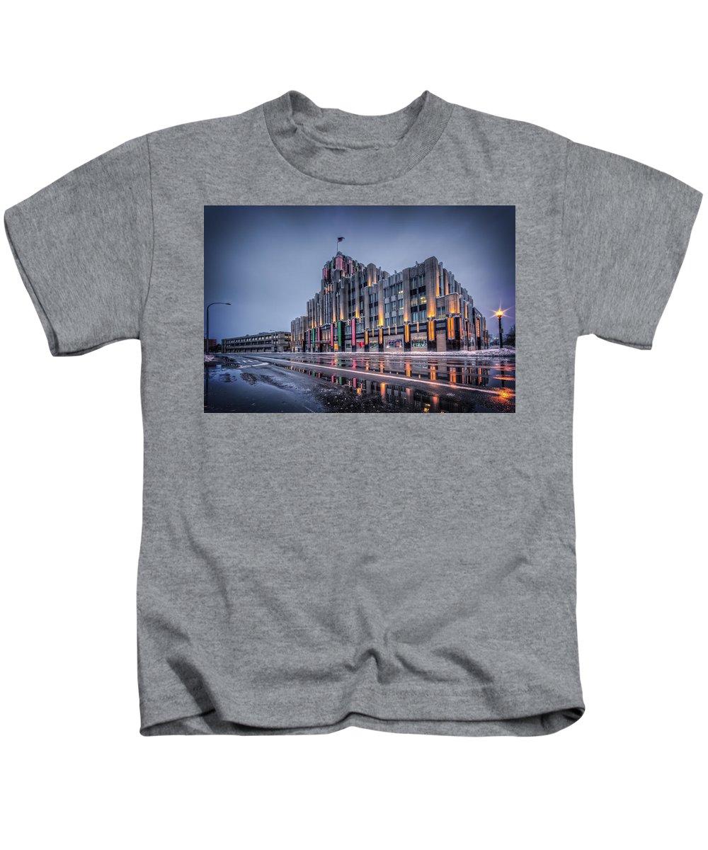 Niagara Kids T-Shirt featuring the photograph Niagara Mohawk Syracuse by Everet Regal