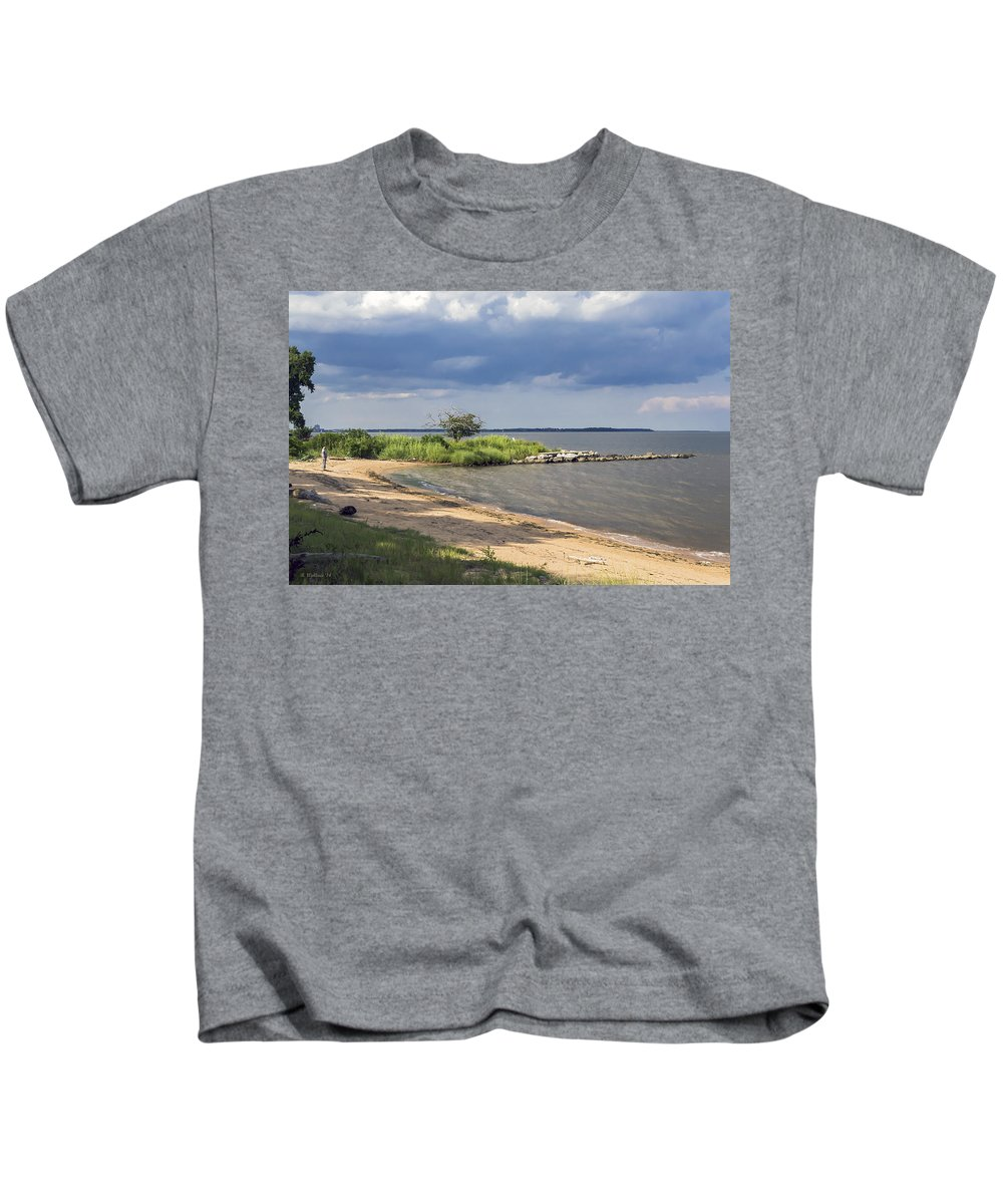 2d Kids T-Shirt featuring the photograph Nice Little Cove by Brian Wallace
