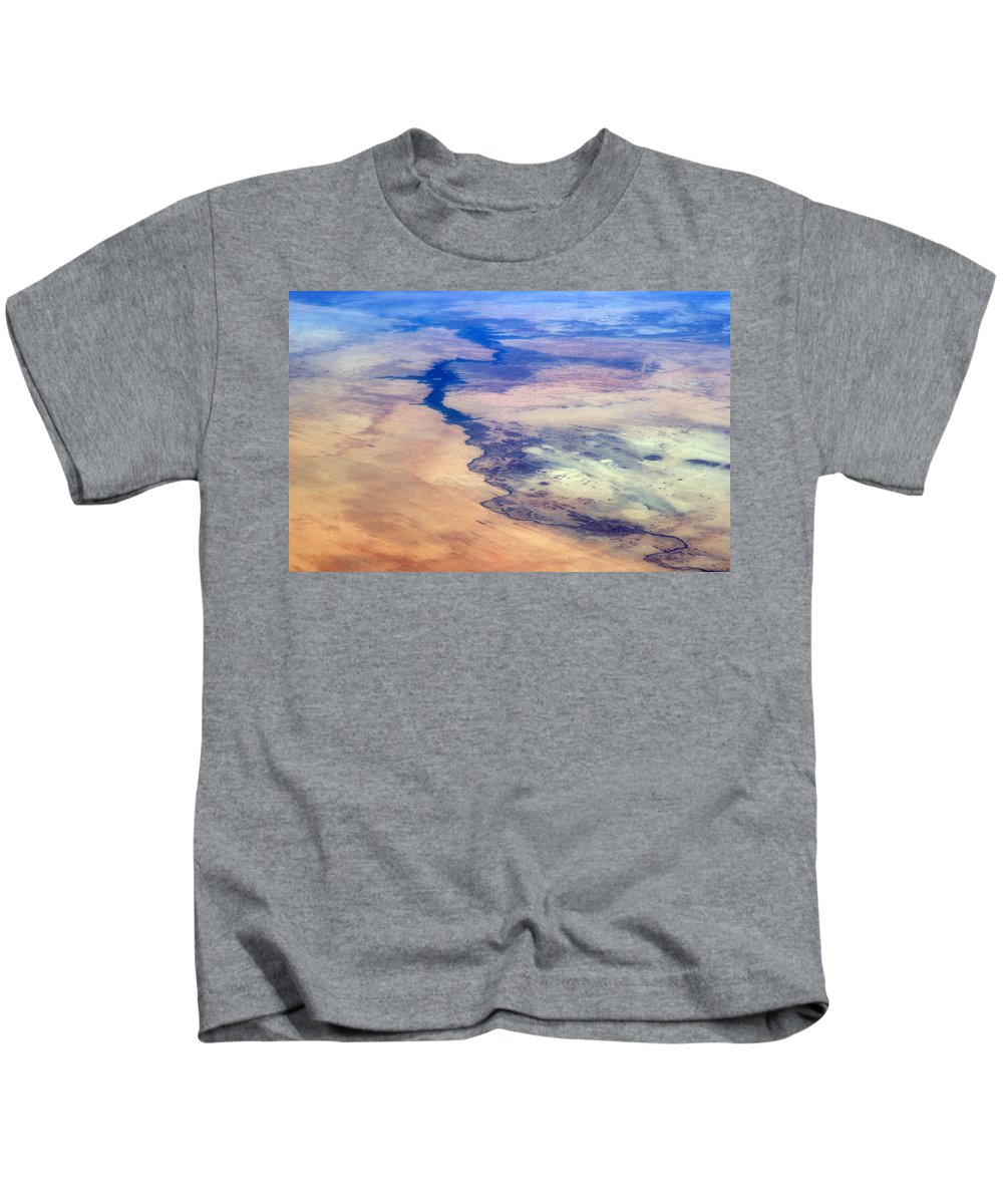 Aerial View Kids T-Shirt featuring the photograph Nile River From The Iss by Science Source