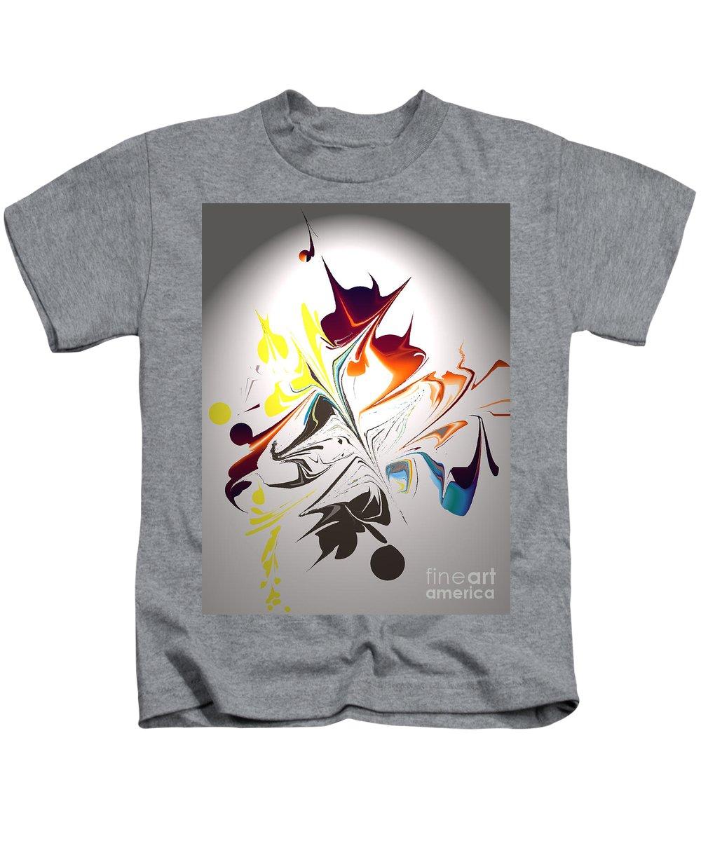 Kids T-Shirt featuring the digital art No. 1179 by John Grieder