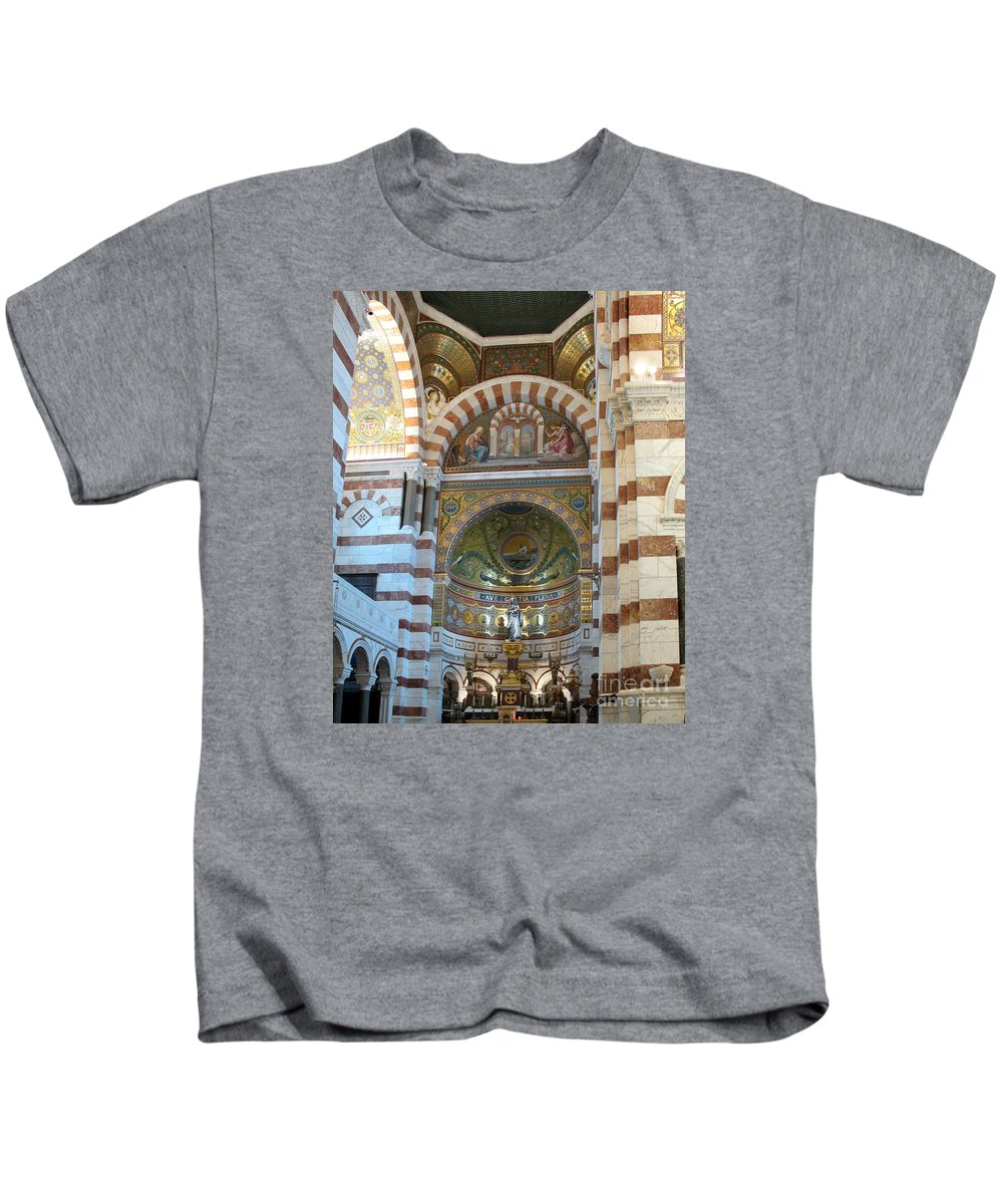 Basilica Kids T-Shirt featuring the photograph Notre Dame De La Garde Interior by Christiane Schulze Art And Photography