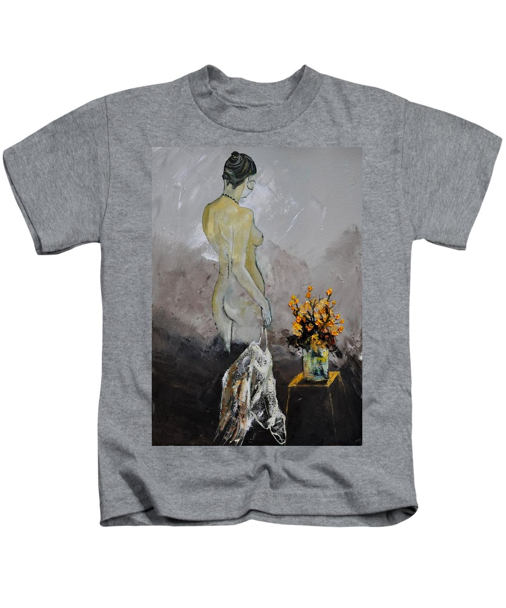 Nude Kids T-Shirt featuring the painting Nude 573111 by Pol Ledent