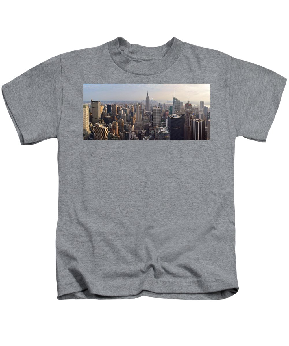 New York City Kids T-Shirt featuring the photograph NYC by Michelle Cassella