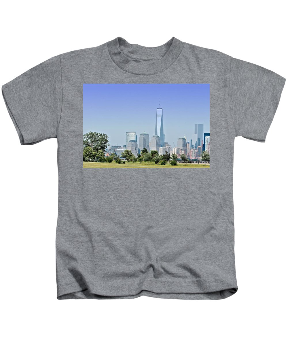 New Kids T-Shirt featuring the photograph Nyc Skyline From The Park - Image 1666-01 by Larry Jost