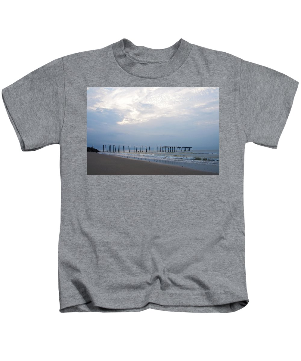 Ocean City At The 59th Street Pier Kids T-Shirt featuring the photograph Ocean City At The 59th Street Pier by Bill Cannon