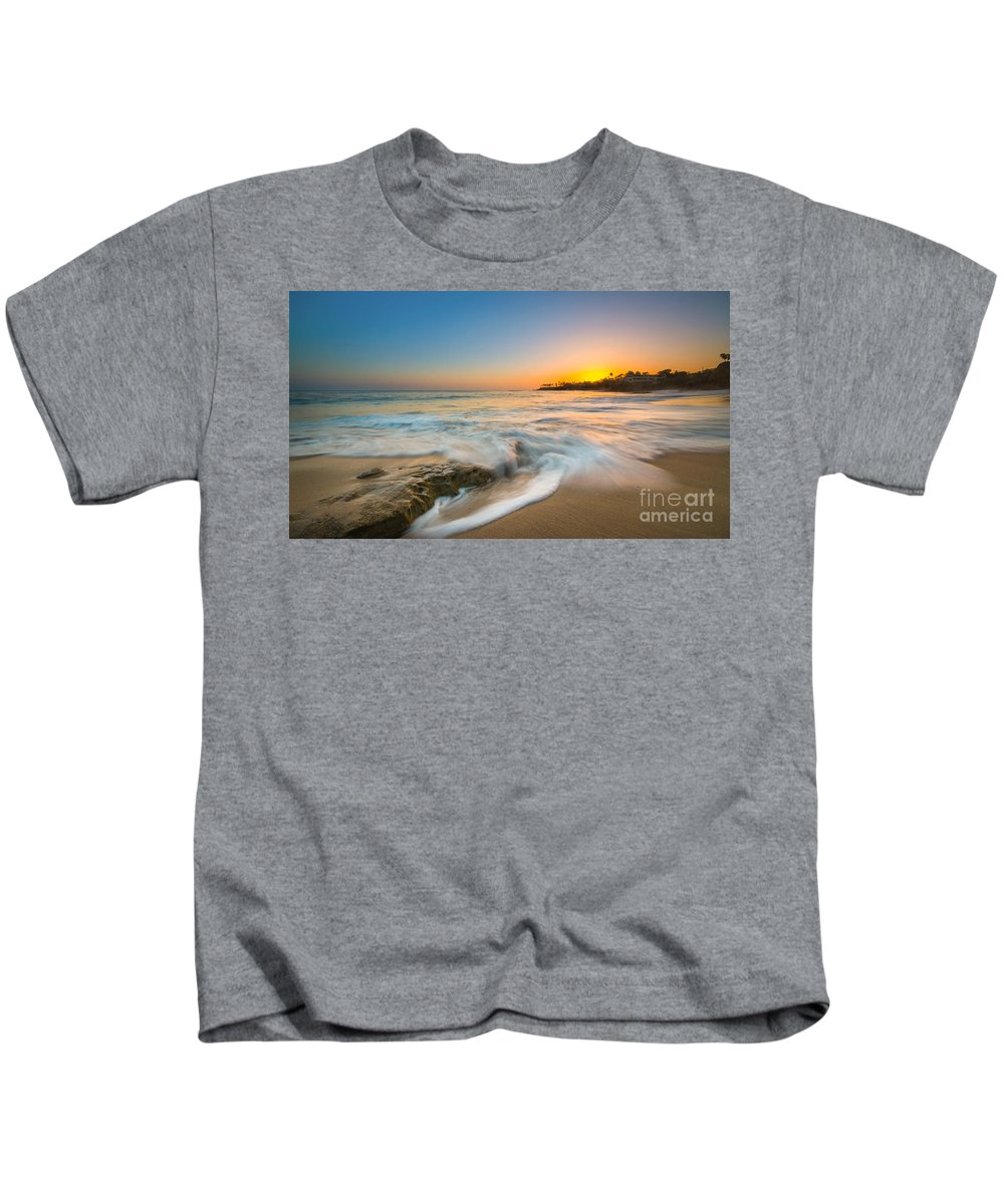 Crashing Waves Kids T-Shirt featuring the photograph Ocean Glow by Michael Ver Sprill