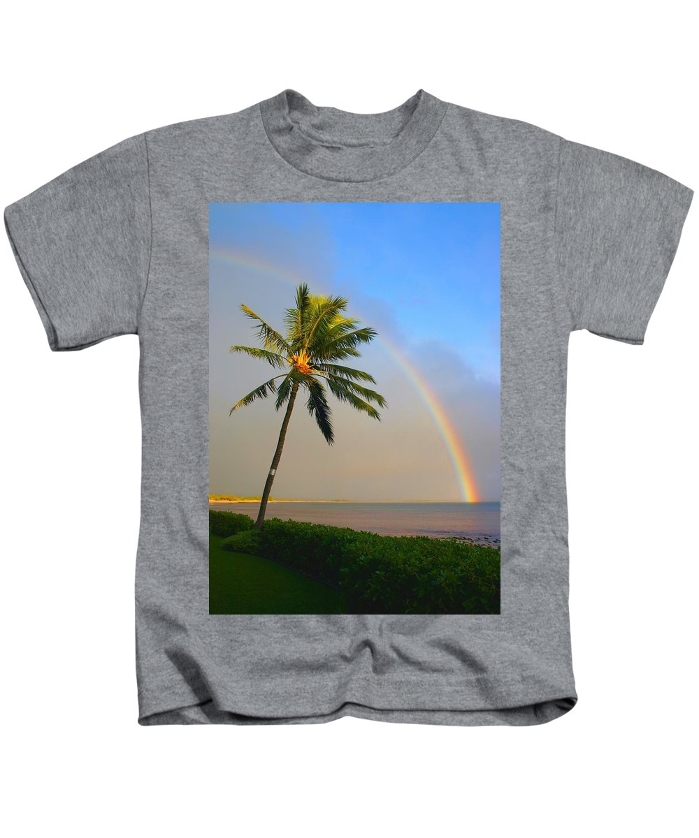 Ocean Kids T-Shirt featuring the photograph Ocean Rainbow Maui by Charles Owens