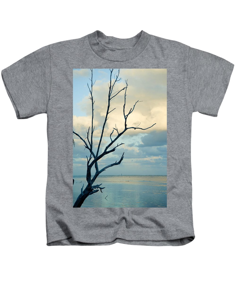 Abstract Kids T-Shirt featuring the photograph Ocean Tree by Zina Zinchik