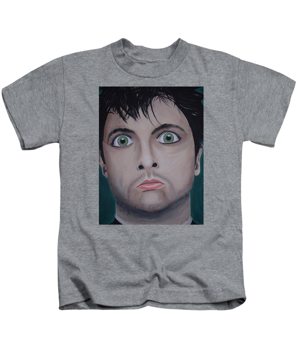 Rockumentory Kids T-Shirt featuring the painting Ode To Billie Joe by Dean Stephens