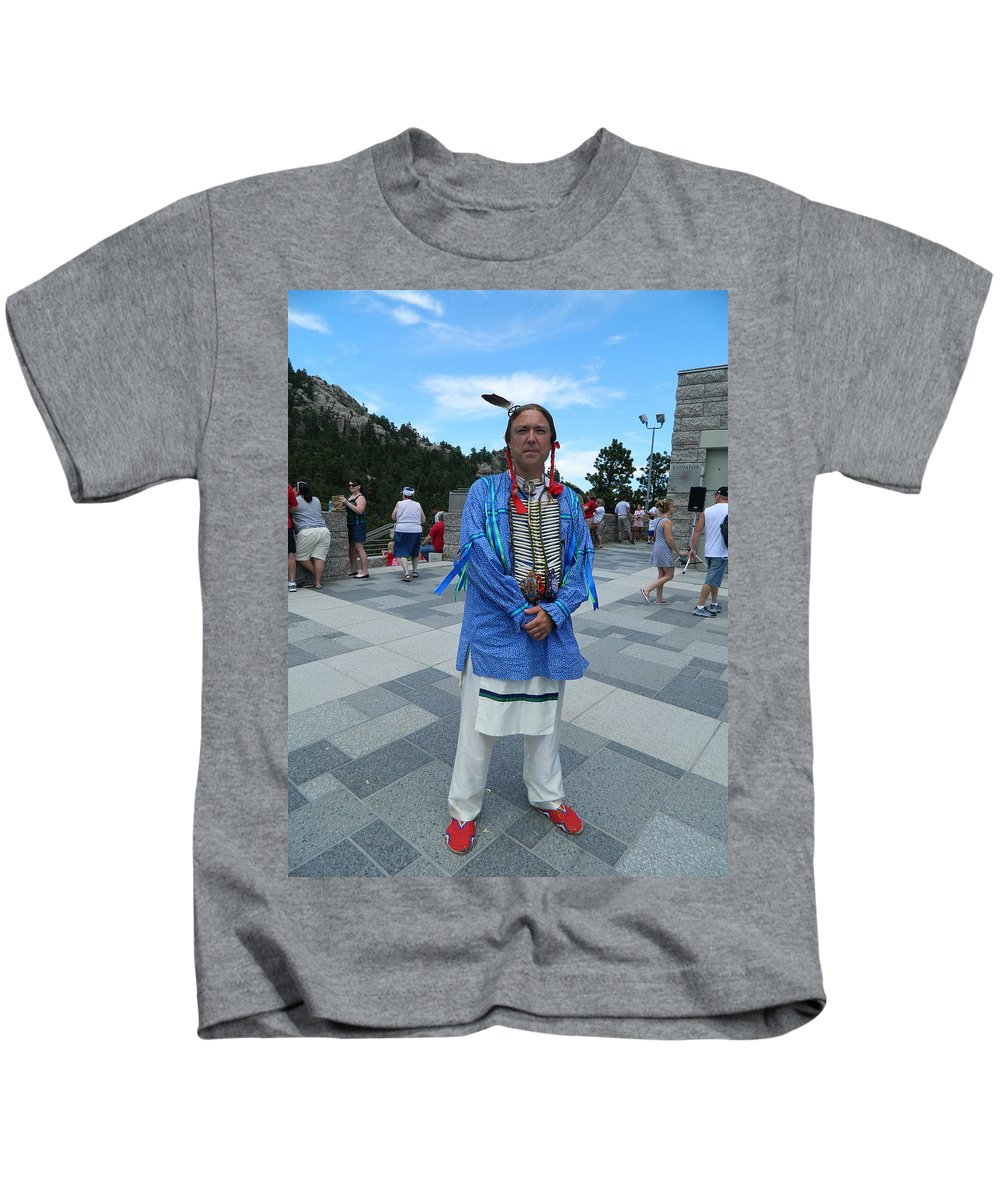 Oglala Lakota Sioux Kids T-Shirt featuring the photograph Oglala Lakota Sioux by Laurie Paci