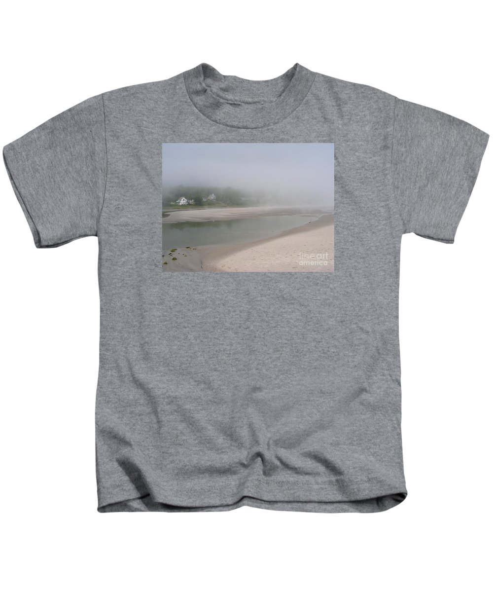 Landscape Kids T-Shirt featuring the photograph Ogunquit River Maine by Joy Bradley