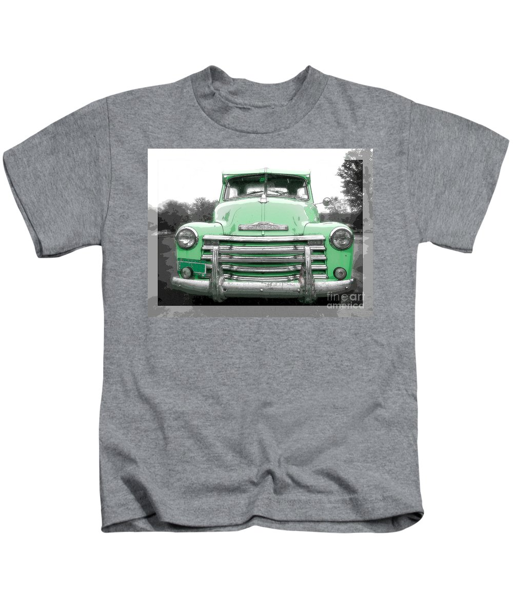 Old Kids T-Shirt featuring the photograph Old Chevy Pickup Truck by Edward Fielding