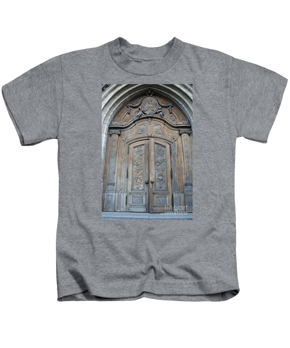 Church Kids T-Shirt featuring the photograph Old Church Door by Christiane Schulze Art And Photography