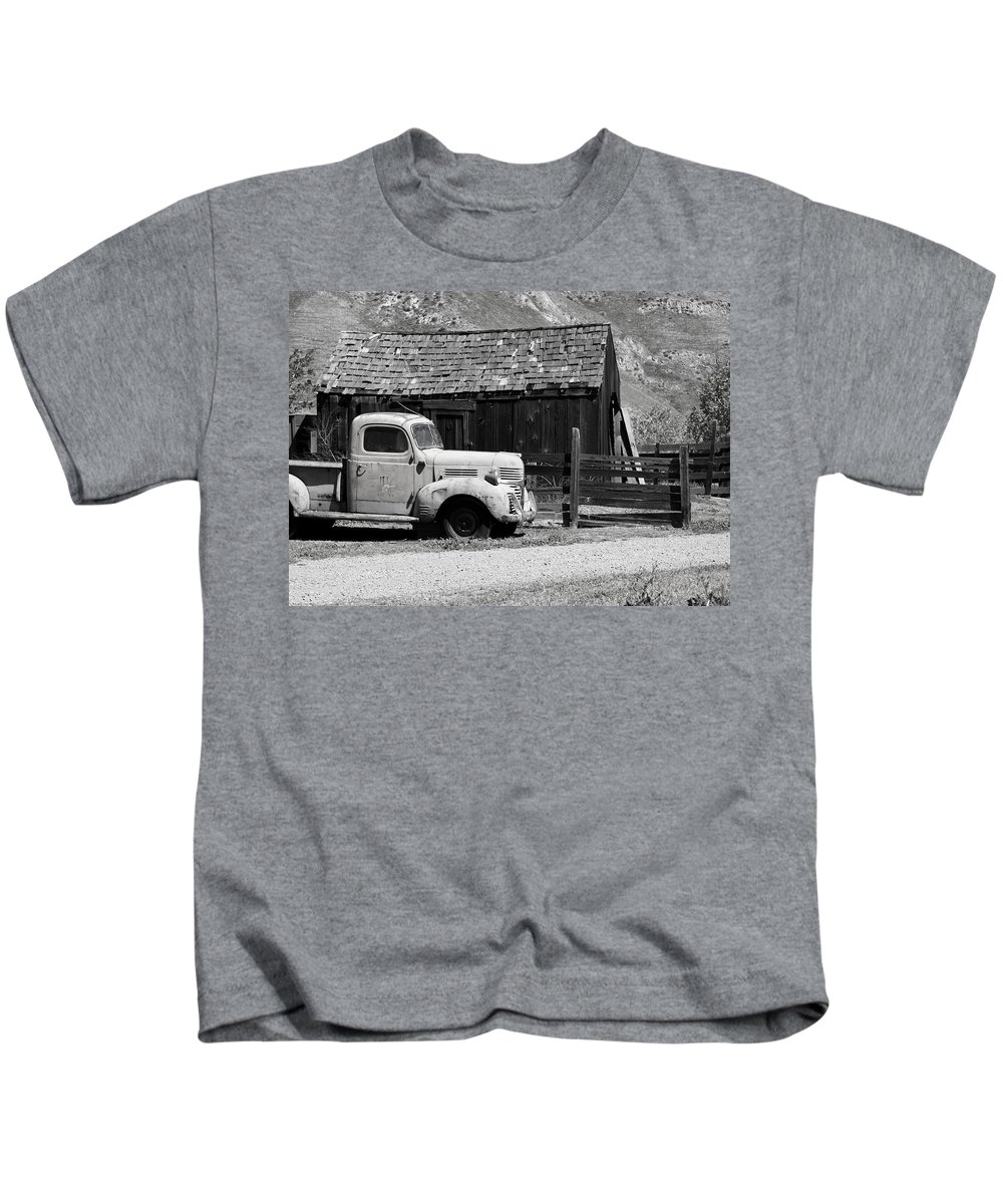 1939 Kids T-Shirt featuring the photograph old Dodge by Bradley Bennett
