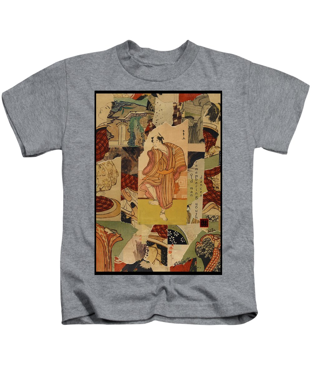 Collage Kids T-Shirt featuring the digital art Old Man by John Vincent Palozzi