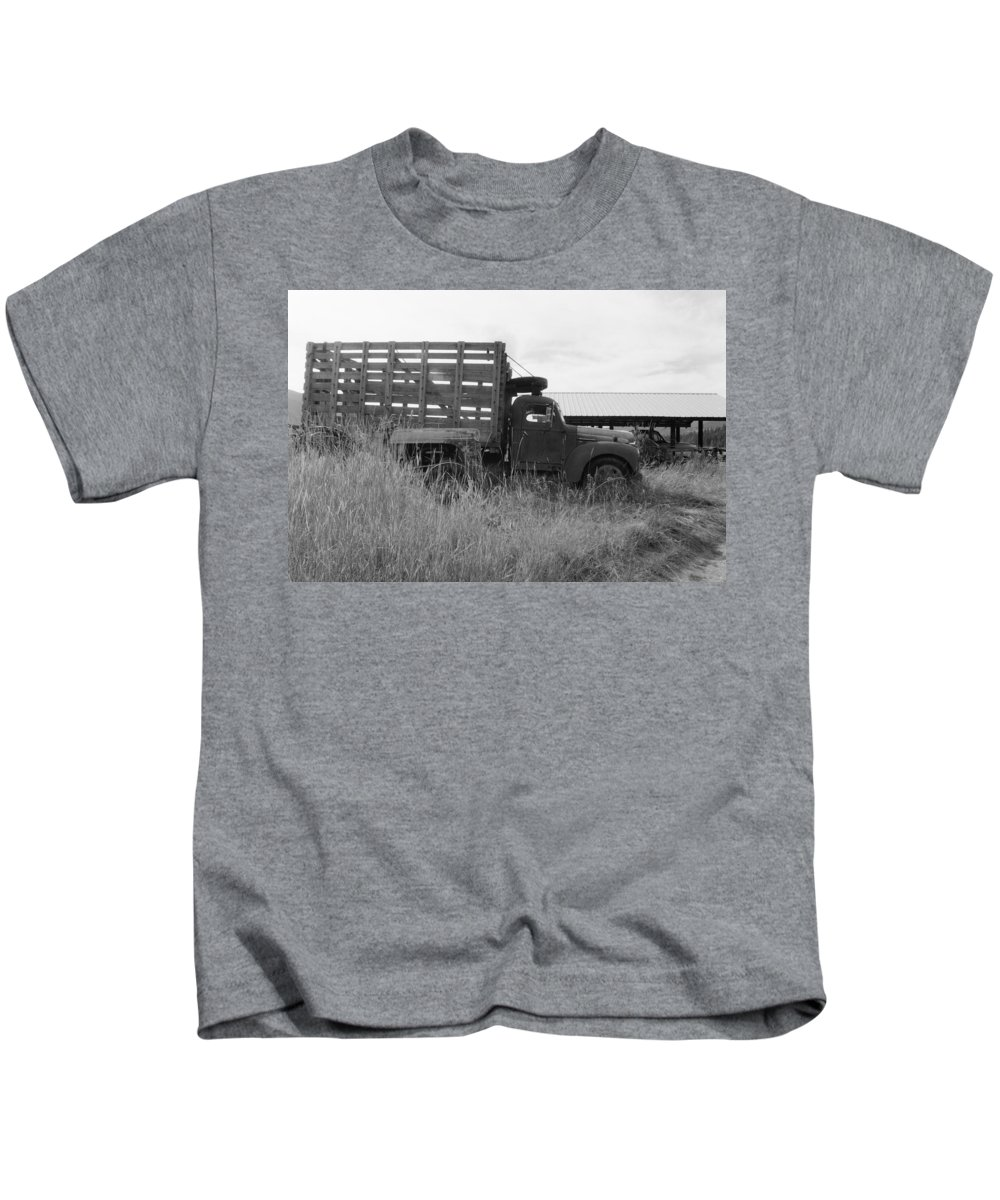 Old Truck Kids T-Shirt featuring the photograph Old Truck by Mike Wheeler