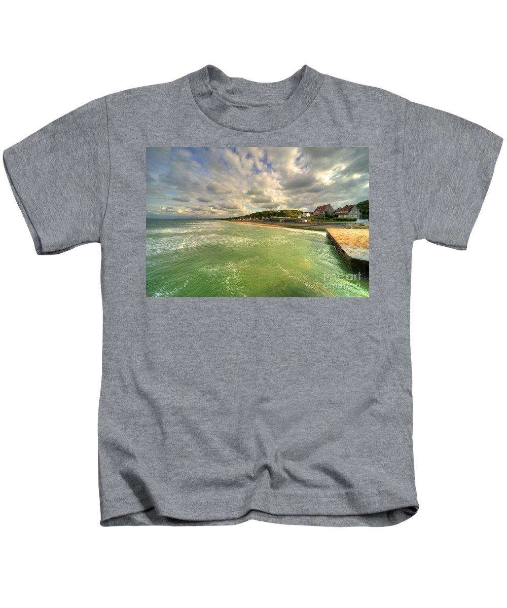 Omaha Kids T-Shirt featuring the photograph Omaha Beach by Rob Hawkins