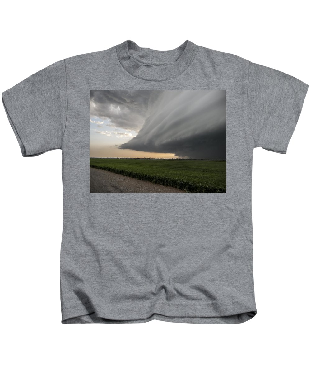 Severe Kids T-Shirt featuring the photograph Ominous by Eugene Thieszen