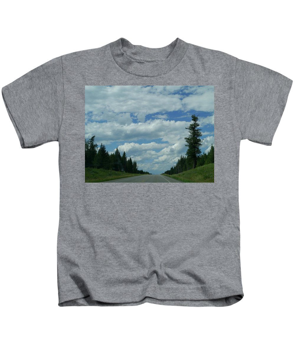Idaho Kids T-Shirt featuring the photograph On The Way Again by Christiane Schulze Art And Photography