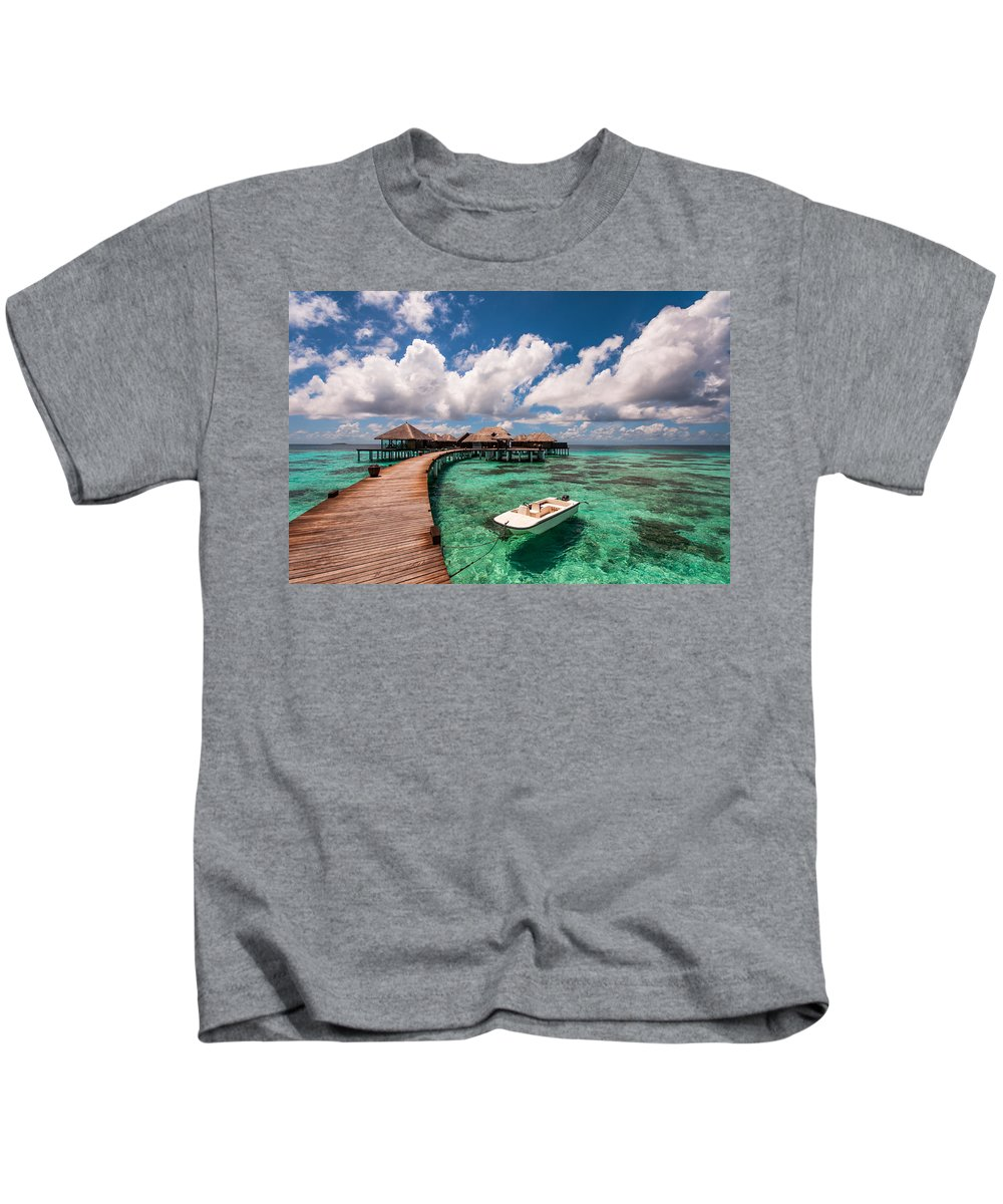 Maldives Kids T-Shirt featuring the photograph One Day At Heaven by Jenny Rainbow