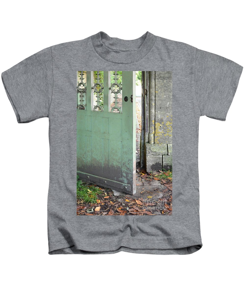 Door Kids T-Shirt featuring the photograph Open Garden Gate by Jill Battaglia