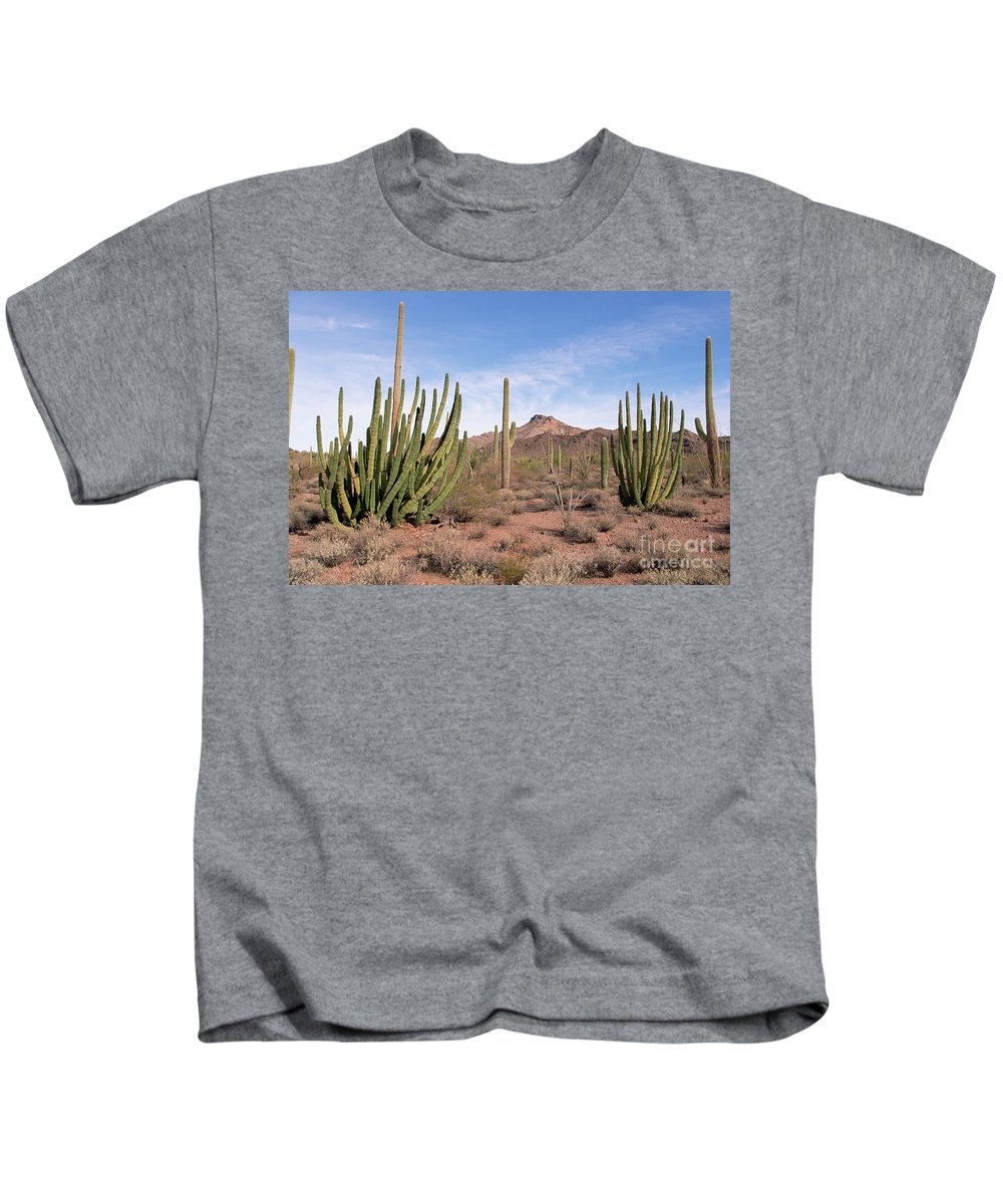 00343705 Kids T-Shirt featuring the photograph Organ Pipe Cactus Natl Monument by Yva Momatiuk and John Eastcott
