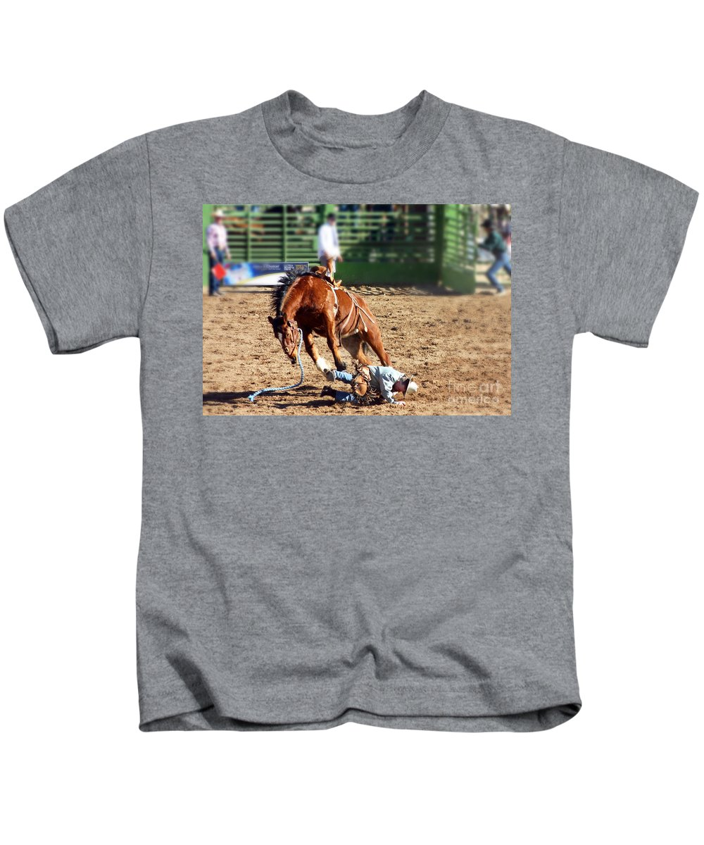 Rodeo Kids T-Shirt featuring the photograph Ouch by Bob Hislop