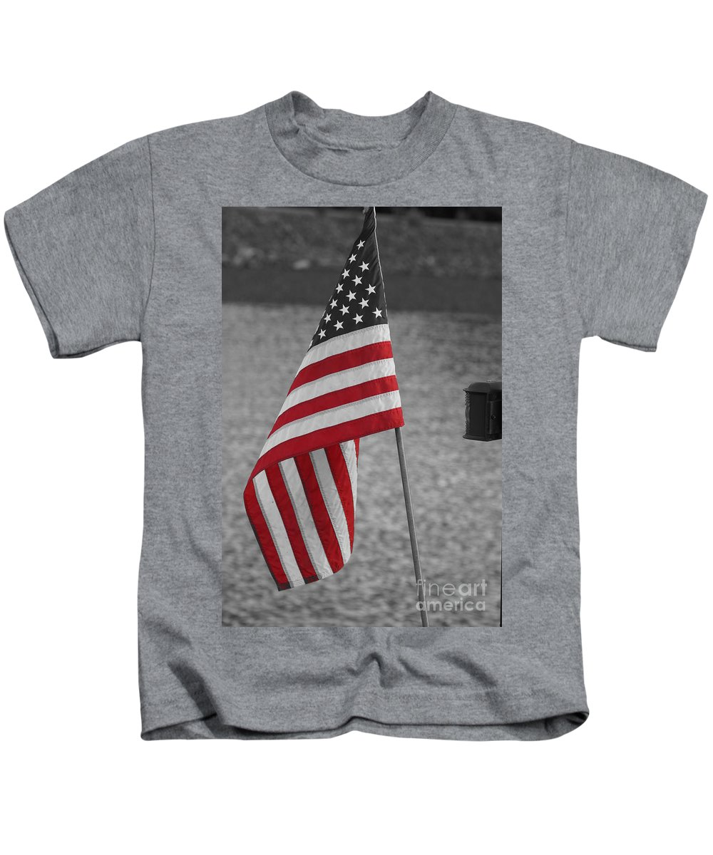 American Flag Kids T-Shirt featuring the photograph Our Colors by Jeffery L Bowers